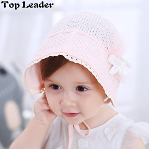Top Leader Summer New Children Princess Hat Baby Girl Pleated Pot Cap