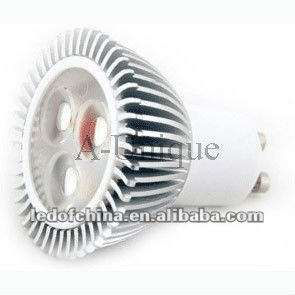 GU10 3*1W CREE LED spotlight with 260lm CE&RoHS