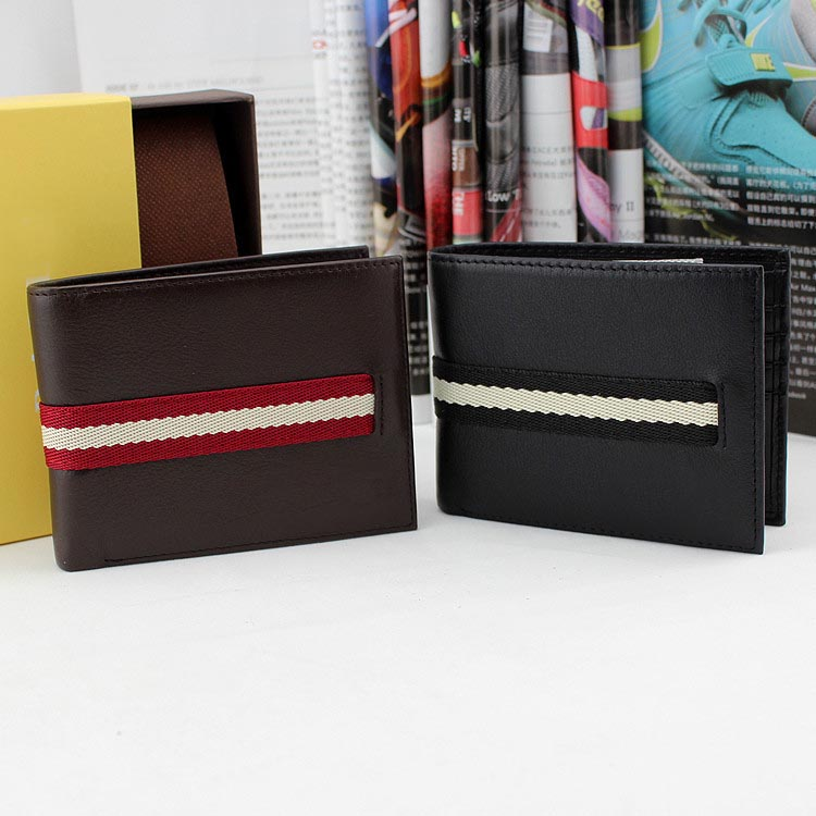 Free shipping leather handmade wallets with purified handmade