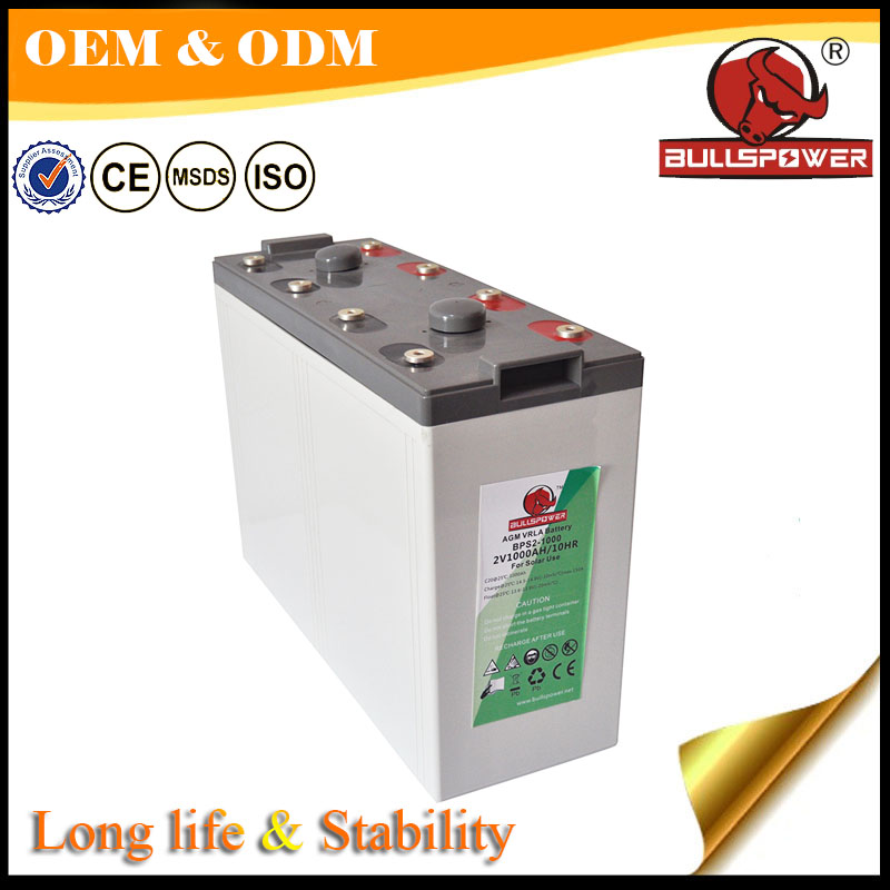 long life traction battery solar deep cycle 36V 48v 1000ah 48 volt battery