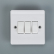 Attractive style British BAKELITE 3 gang 1 way/2 way wall switch