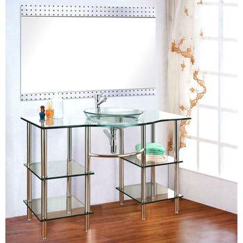 High Quality Solid Wood Bathroom Cabinet Gl Wash Basin Pvc Vanity