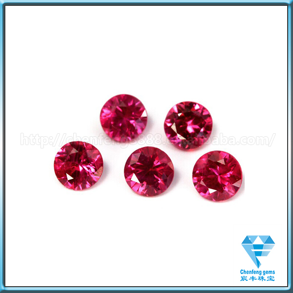 semi precious gemstone round diamond cut cubic zirconia/cz