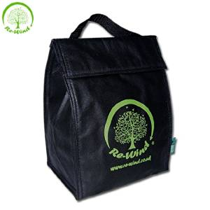 NEW Re-Wind Eco-Friendly Stylish Cool Bag (Insulated) - Ideal Accessory for; Lunch Bag, Day Trips, Picnics, Walking and Hiking - Made From Recyclable PP Material in Attractive Black with Green Re-Wind Logo!