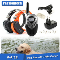 2016 amazon top sell WATERPROOF 1000 YARDS electric shock remote dog training collar
