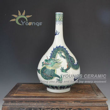Antique Qing Reproduction Chinese Famille Rose Porcelain Dragon