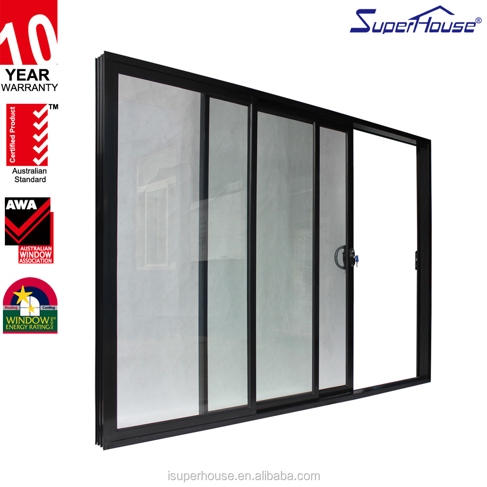 10 years warranty commercial system exterior double pane sliding glass door
