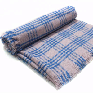 tartan plaid most popular on sale blue white scarf