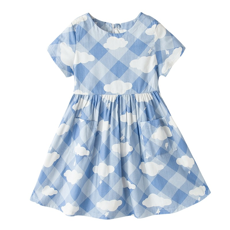 Online Shopping China Clothes Kids Clothing 2017 Latest Children Frocks Cloud Designs Dresses For Teenage Girls Of 10