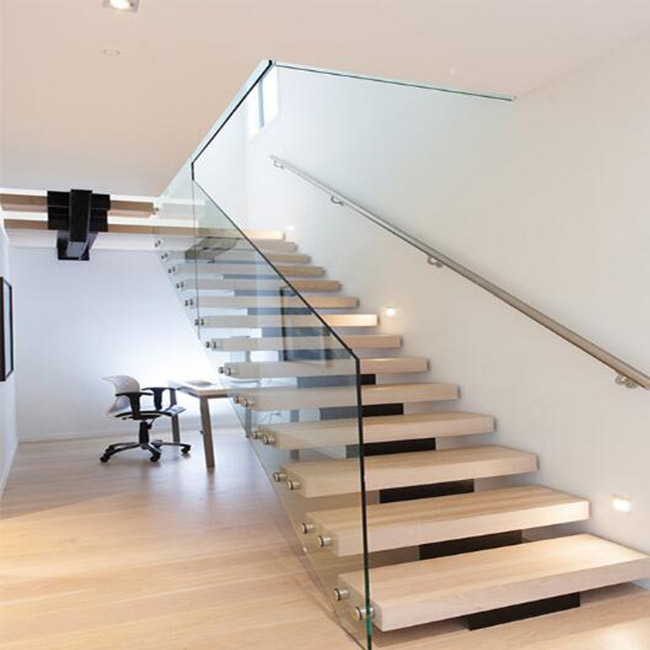 American Stair Design Single Stringer Steel Wood Stair/mono Stringer Wood  Staircase   Buy Residential Steel Stairs,Acacia Wood Stair Treads,Interior  Wood ...
