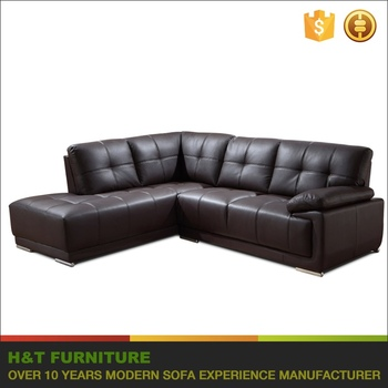 Low Price Cheap Living Room Furniture Leather Sectional Sofa Set ...