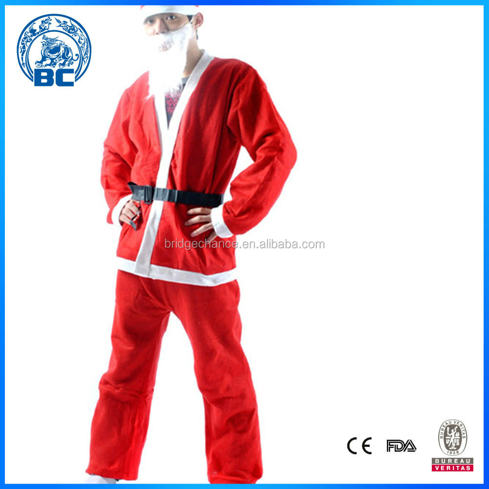 2015 Chirstmas Suit for Cosplay 5 PCS Set Of Santa Clothes Thin Santa Claus Suit