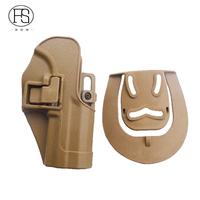 CQC Glock 17 P226 M9 USP 1911 tan military airsoft Tactical Paddle Magazine Right Hand Waist Holster
