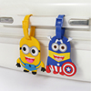 High quality pvc silicone rubber travel hotel hang luggage tag, mini cartoon luggage tag