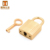 Zinc alloy light gold small key lock hand bag accessory for purse