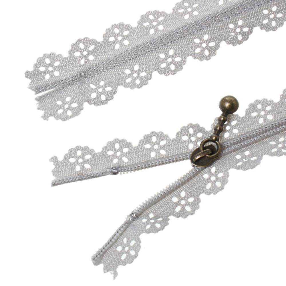 "A56467 3 sets Nylon Lace Zipper For Tailor Sewing Craft Gray 30cm(11 6/8"")20cm(7 7/8"")15cm(5 7/8""),3 Sets 2015 new"