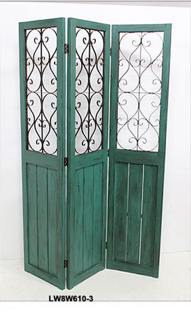 Antique Wood Folding Doors French Style Decorative Room Dividers