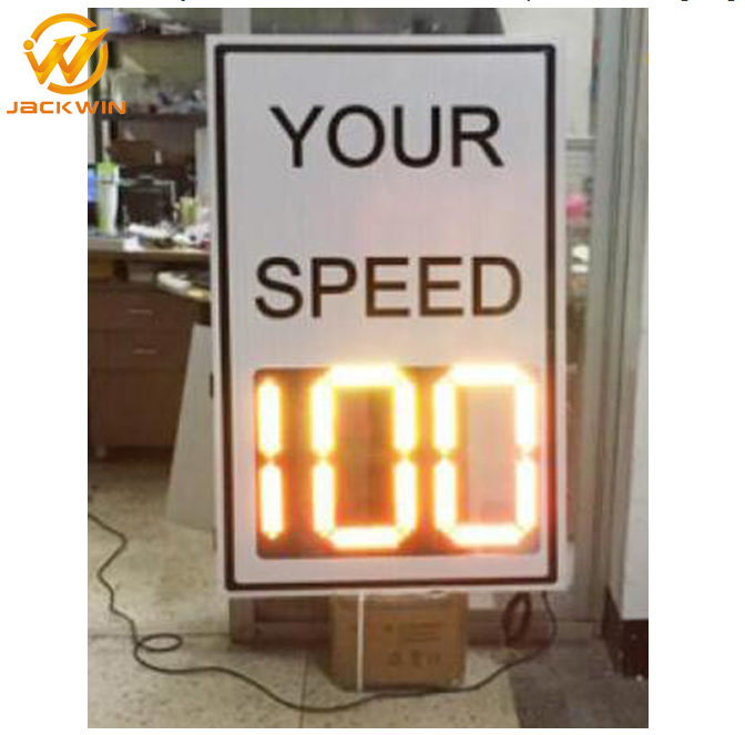 Road Traffic Safety Products Solar Powered Speed Limit Led Radar Sign