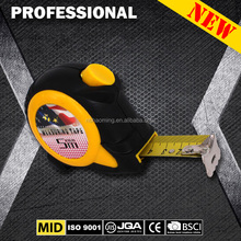 2m 3.5m 5m 7.5m 8m 10m ABS case TPR cover steel measuring tape 3 brake tape measure