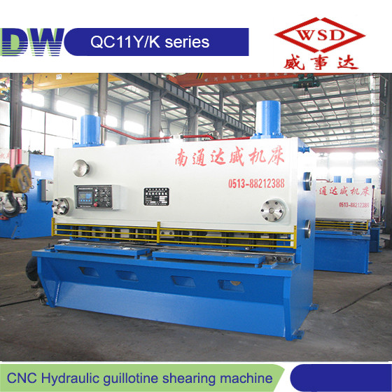 WSD brand QC12K-8*5000 6*5000mm E10 manual hydraulic sheet metal cutting guillotine shear