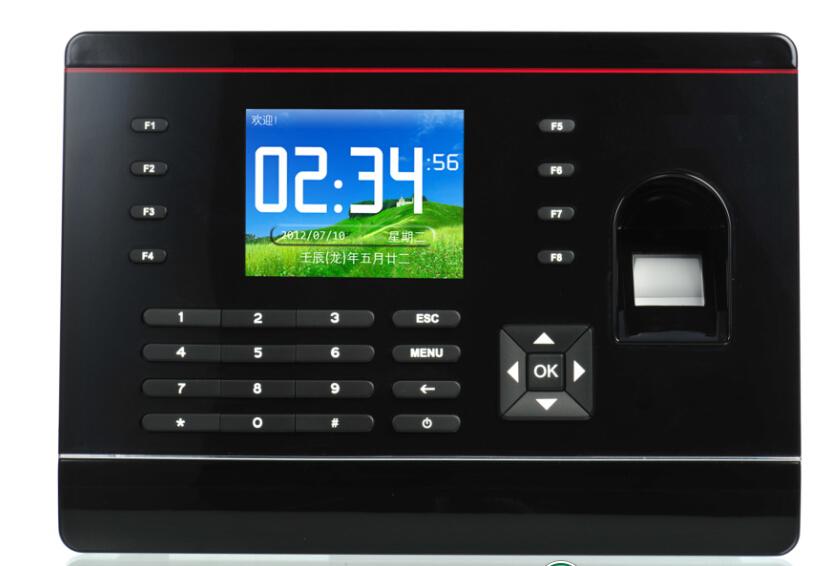2 8 inch tft p2p biometric fingerprint electronic time attendance