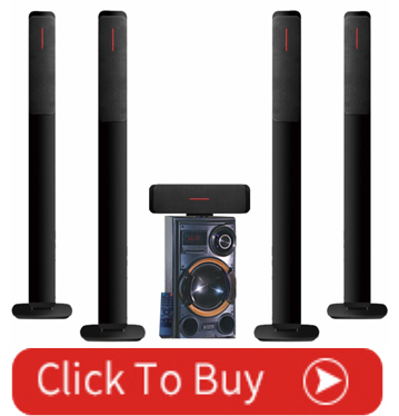 5.1 Tower Active Home Theater  Speaker Amplifier System DC 12V