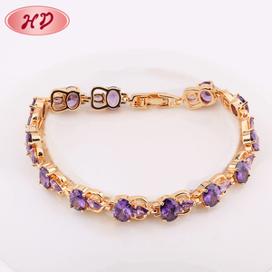 Cheap Wholesale Latest Design Girls Indian 18K Gold Plated Bracelets Bangles