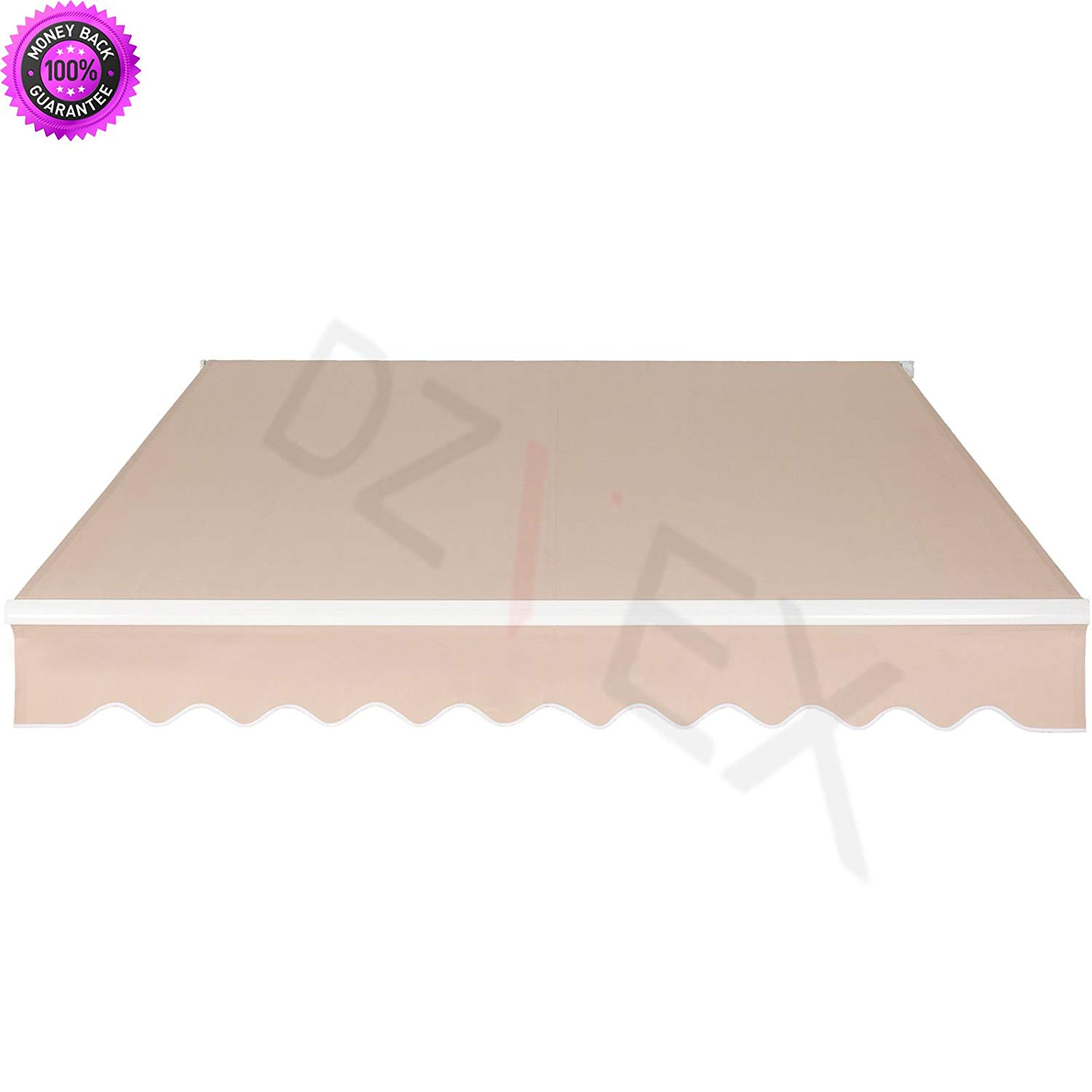 Dzvex_patio Manual Patio  Retractable Deck Awning Sunshade Shelter Canopy And