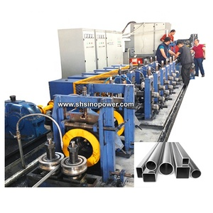 High Frequency MS Iron Metal Steel Square Pipe Making Machine Galvanized GI Pipe Making Machine