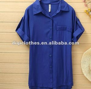 2012 new fashion lady's rayon blouse,short sleeve