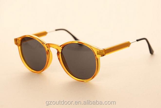 korean round yellow frame ready stock sunglassespopular black polarized leopard glasseswholesale brown champagne oem shades buy korean round yellow - Yellow Frame Sunglasses