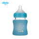 2018 newborn glass baby feeding bottle with silicone sleeve for wholesale
