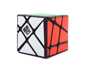YJ MoYu 3x3x3 5.7cm Crazy Fisher Brain Teaser Puzzle Twist Toy Game Education Creative Speed Magic Cube for Holiday Birthday Valentine Gift - Black
