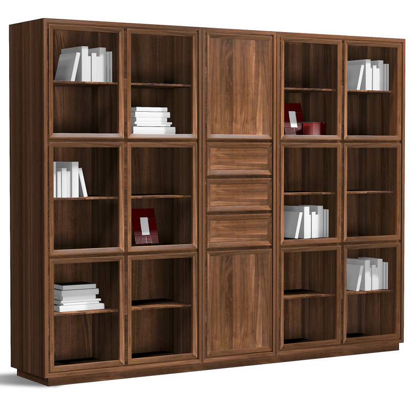 Bois massif vintage country style biblioth que meubles for Meuble bibliotheque bois massif
