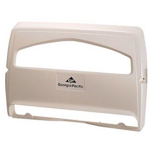 Georgia Pacific 57710 Safe-T-Gard 1/2 Fold Toilet Seat Cover Dispenser, White by Safe-T-Gard