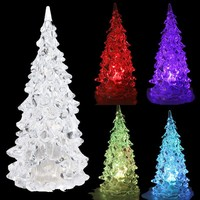 2016 new wholesale Crystal Color Changing LED Christmas Tree party Decoration Light