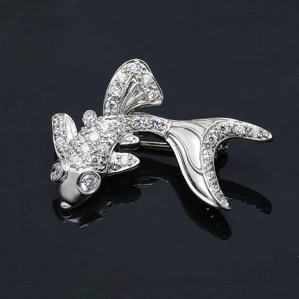 animal silver brooth