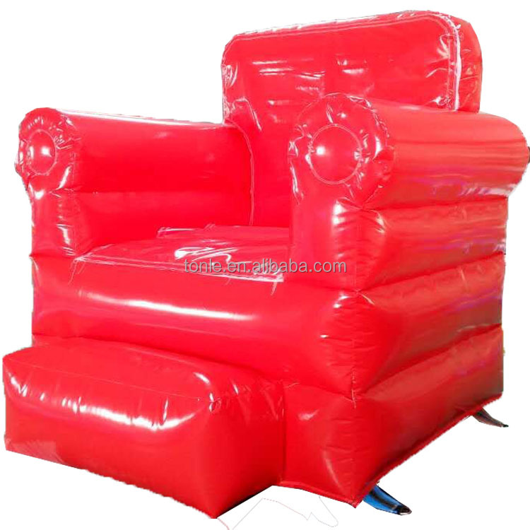 Factory custom giant red inflatable sofa/ cheap large inflatable chair for sale