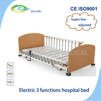 Old health Electric 3 function hospital bed for elderly at home used,1 year warranty