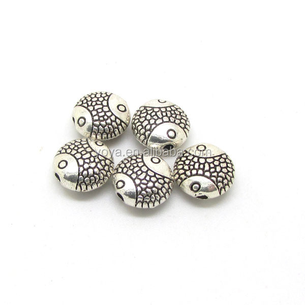 JS0934 charm Silver Gold plated metal disc spacer beads, jewelry finding beads