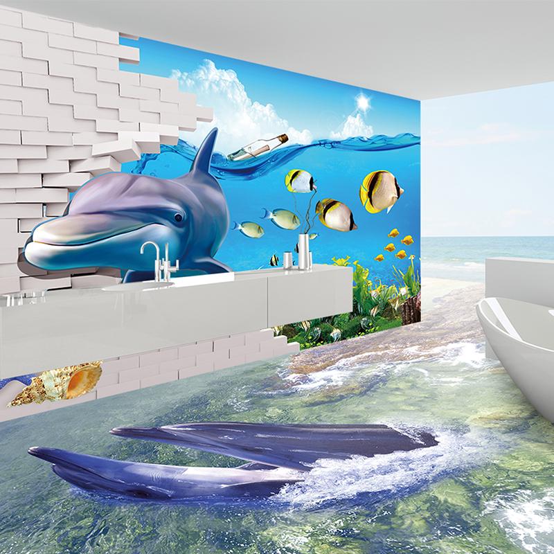 Badkamer ontwerp 3d inkjet hal muur 3d interieur vloertegels