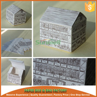 house shape cheap single cupcake boxes