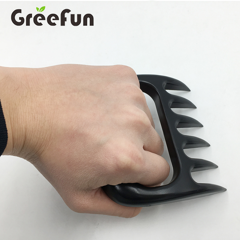 FDA 5 Stars Set Of 2 Meat Handler Fork , Barbeque Tools Good Grip Meat Shredder , High Quality Bear Claw With Silicone Glove