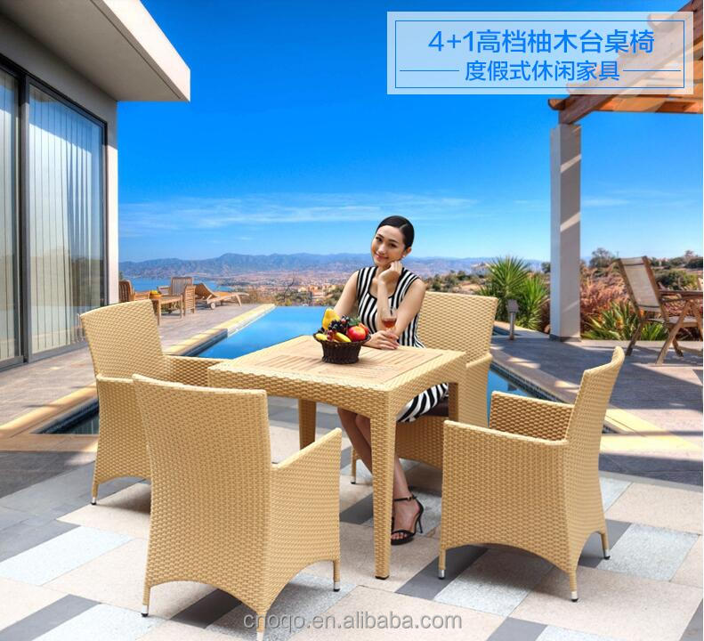 New Design Outdoor Rattan Bar Furniture / Wicker Bar Table And Chair / Garden Furniture Bar Stools Set Z383