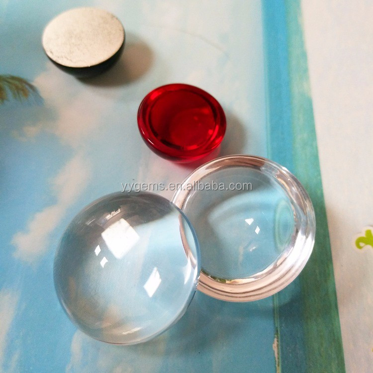 Crystal Clear Circle Flat Cabochons 25mm Round Glass Tiles FREE SHIPPING