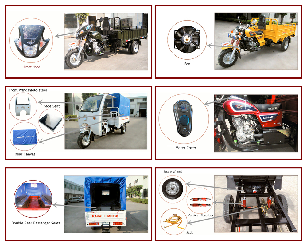Hot sale cheap three wheel motorcycle/cargo moto Africa Market