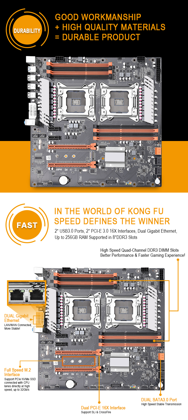 High quality Intel X79 dual socket lga 2011 core ddr3 motherboard for sale