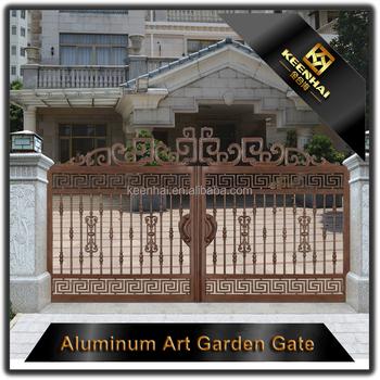 Garden Decoration Powder Coated Laser Cut Aluminum Villas Gate Metal Gates