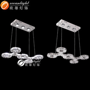 led silver flower shape pendant lighting om 99036 ,diamond om pendant
