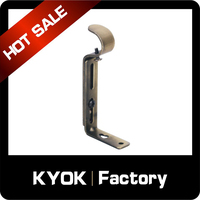 KYOK 25/28mm Curtain Rod Brackets,Ceiling Wall Curtain Brackets,Chrome Brass Black White Silver Different Size Can be Selected
